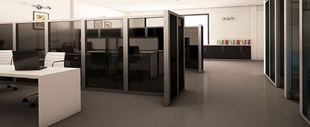 رفع پرتی فضا در طراحی پارتیشن اداری-1